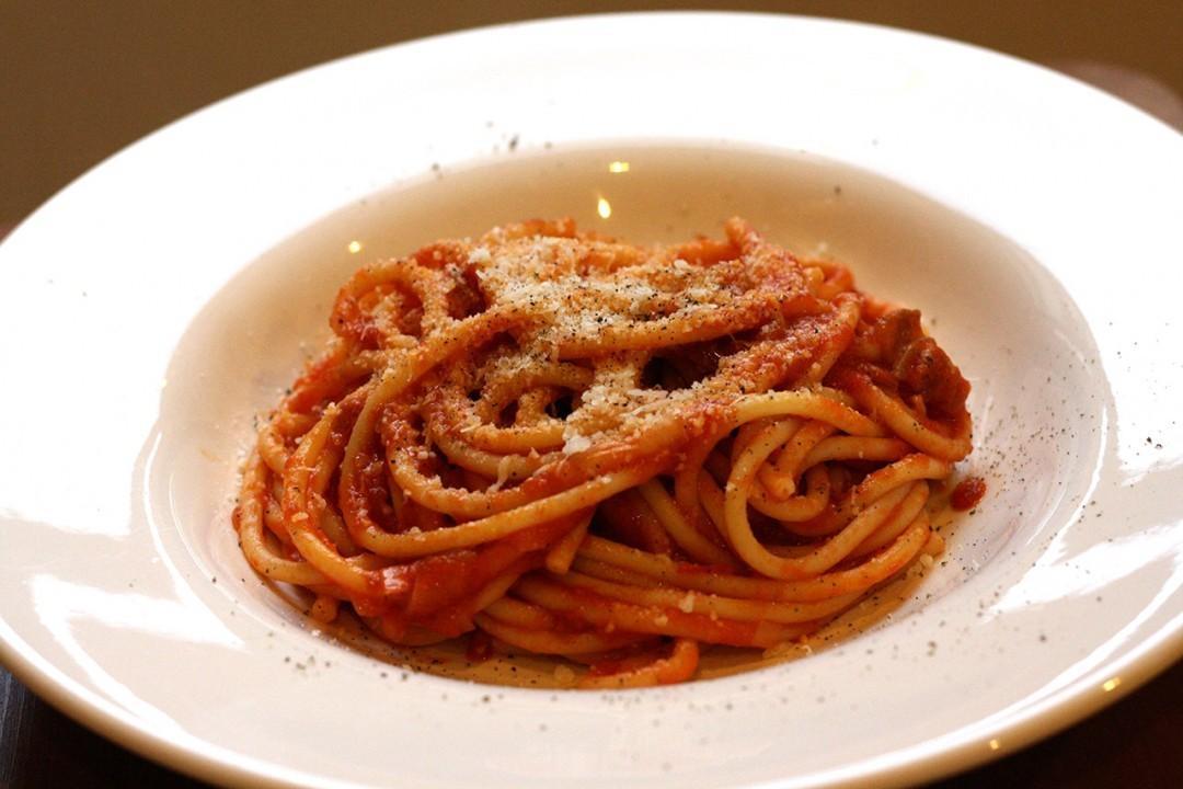 Bucatini All'Amatriciana Recipes — Dishmaps